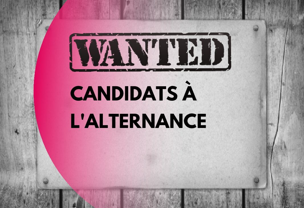 Avis de recherche : candidats à l'alternance